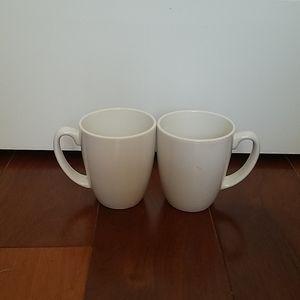 🔴Set of 2 white coffee mugs
